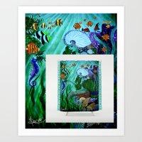 Mermaid Shower Curtain A… Art Print