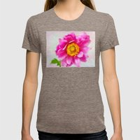 Anenome Womens Fitted Tee Tri-Coffee SMALL