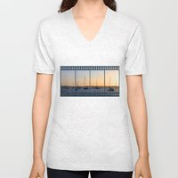 Boats and sunset Unisex V-Neck