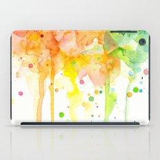 Rainbow Watercolor iPad Case