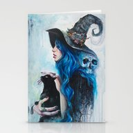 Stationery Cards featuring Blue Valentine by Tanya Shatseva