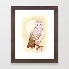 Barn Owl recolour Framed Art Print