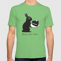 Bunnies Love Cake Mens Fitted Tee Grass SMALL
