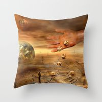 Coincidence or fate Throw Pillow