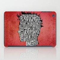 Typography Tyler Durden Uncensored iPad Case