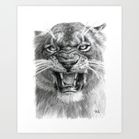 Wicked Lioness 748 Art Print