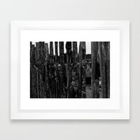 Weathered Pickets Framed Art Print