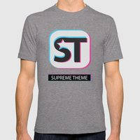 Supreme WordPress Theme Mens Fitted Tee Tri-Grey SMALL