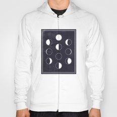 Lunar Phase Chart Imagery Hoody