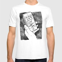 Smartphone Mens Fitted Tee White SMALL
