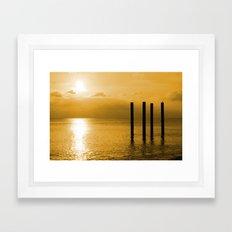 Pier Remnants Framed Art Print