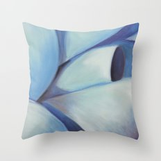 Blue Ribbon - Pastel Illustration Throw Pillow