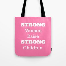 Strong Women - Pink.  Tote Bag