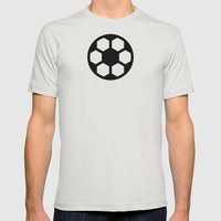 Football - Balls Serie Mens Fitted Tee Silver SMALL