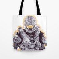 Halo Master Chief Tote Bag
