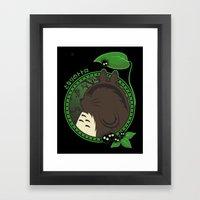 Forest Spirit Neighbor Framed Art Print