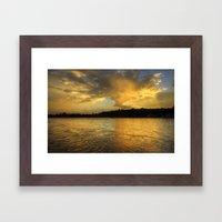 when the light turns to gold... Framed Art Print