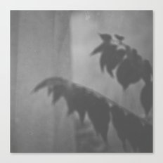 Trapped Behind The Window - B/W Canvas Print