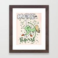 Make it Rain. Framed Art Print