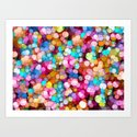 Rainbow Party Colors Art Print