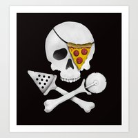 Pizza Raider Art Print