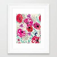 Mona Floral Framed Art Print