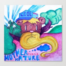 Mother purple nature Canvas Print