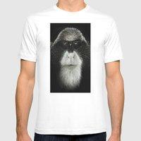 Debrazza's Monkey Square Mens Fitted Tee White SMALL