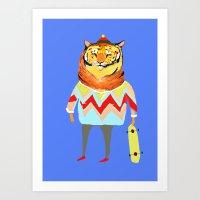 Tiger Dude Art Print