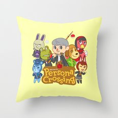 Persona Crossing Throw Pillow