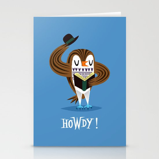 The Howdy Owl Stationery Card