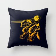 Throw Pillow featuring Metal Gear Rex by Adrian Iorga