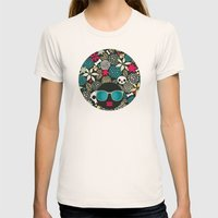 Black head. Womens Fitted Tee Natural SMALL