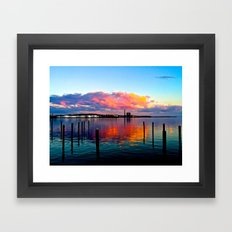 Long Wharf Framed Art Print