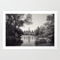 Central Park from Bow's Bridge Art Print