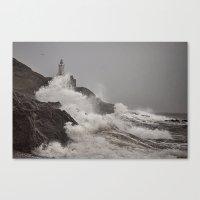 Wild Welsh Waves Canvas Print