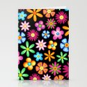 Spring Flowers Colorful Naif Design Stationery Cards