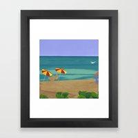 South Beach Pillow 2 Framed Art Print