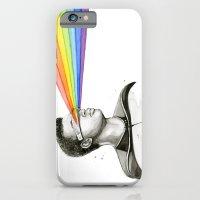 Geordi Rainbow Watercolor Portrait iPhone 6 Slim Case