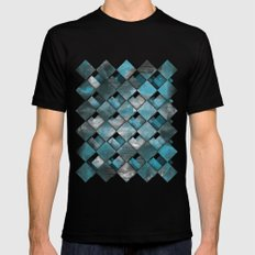 SquareTracts Mens Fitted Tee Black SMALL