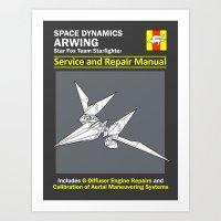 Arwing Service and Repair Manual Art Print