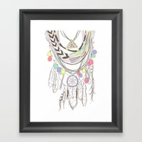 Tribal Necklace Framed Art Print