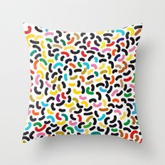 colored worms Throw Pillow