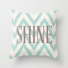 Chevron Shine Throw Pillow