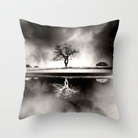 SOLITARY REFLECTION Throw Pillow
