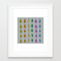 Candy Raindrops Framed Art Print