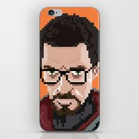 Gordon Freeman portrait iPhone & iPod Skin