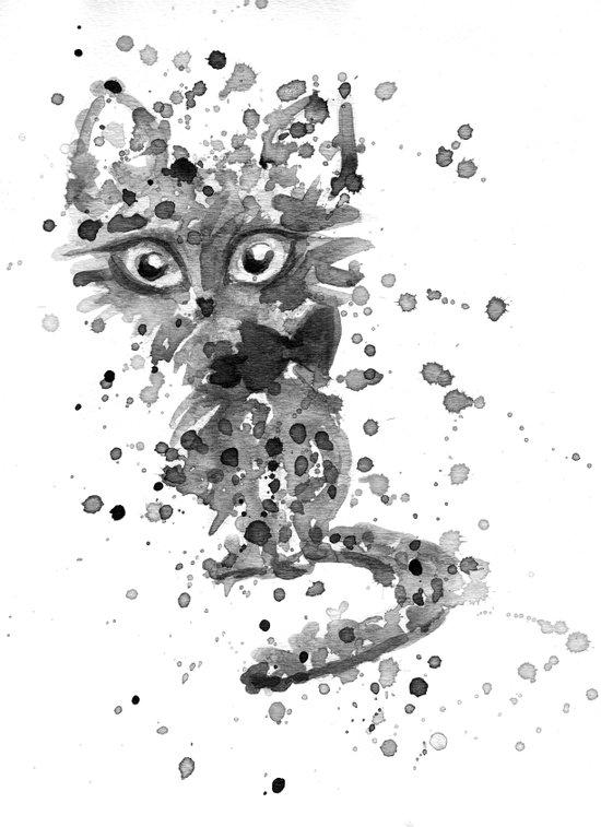 Splatter Kitty Art Print