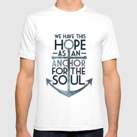 WE HAVE THIS HOPE. Mens Fitted Tee White SMALL