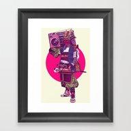 Hip-Hop Samurai Framed Art Print